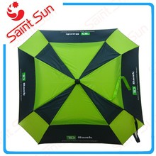 30 pulgadas auto open square shaped creativo 2 capas paraguas de golf