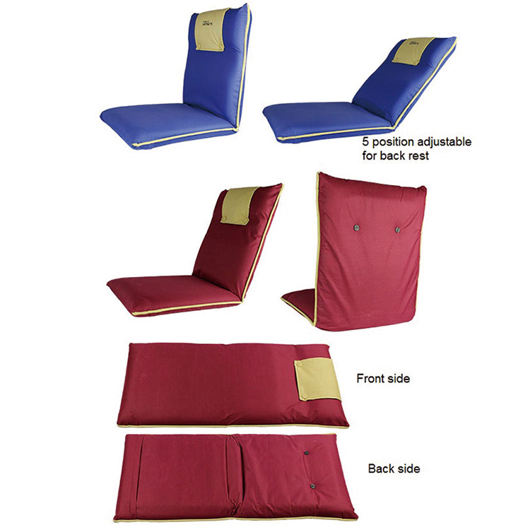 Custom Outdoor Soft Portable Foldable Adjustable Folding Floor Meditation Chairs with Back Support