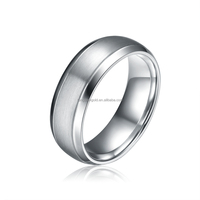 Men's Domed Titanium Wedding Rings Without Stones