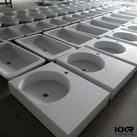 Pure white stone basin for sales/ Bathroom vanity top/Modern kitchen quartz stone sink