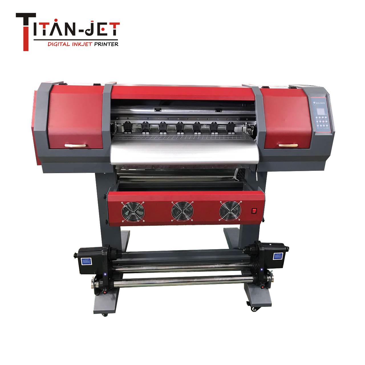 Titanjet 60cm small sticker printing machine eco solvent inkjet printer with double v540 dx6 printhead