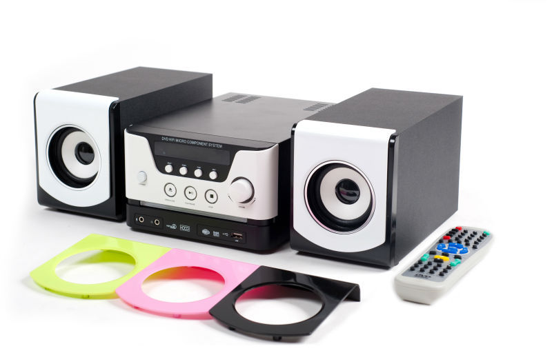 High Quality MV-88 home stereo with DVD CD FM USB CLOCK FUNCTION
