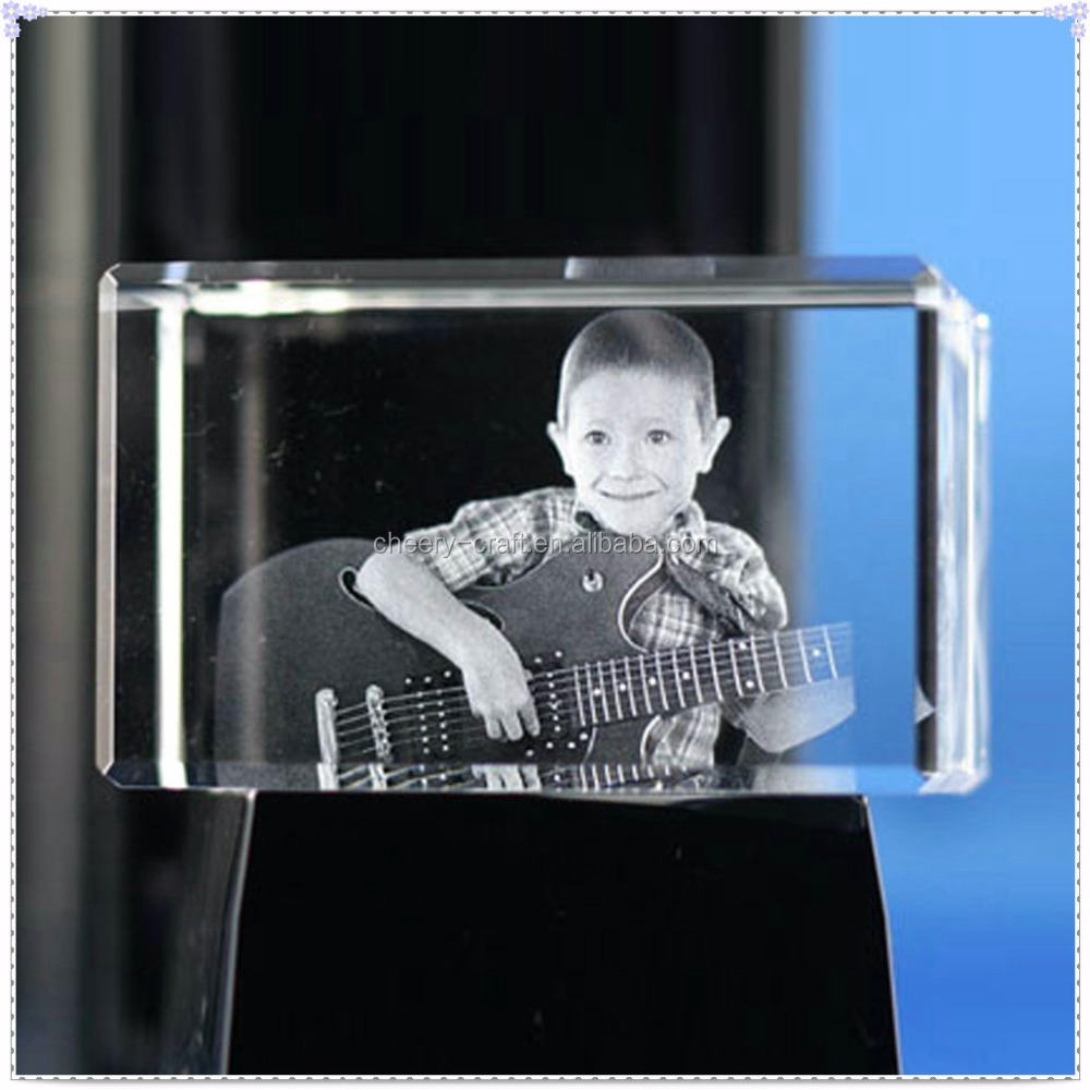 Birthday Gifts Unique 3D Laser Children Crystal Cube