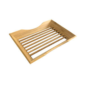 Small Natural basic food rectangle bamboo bathtub caddy tray