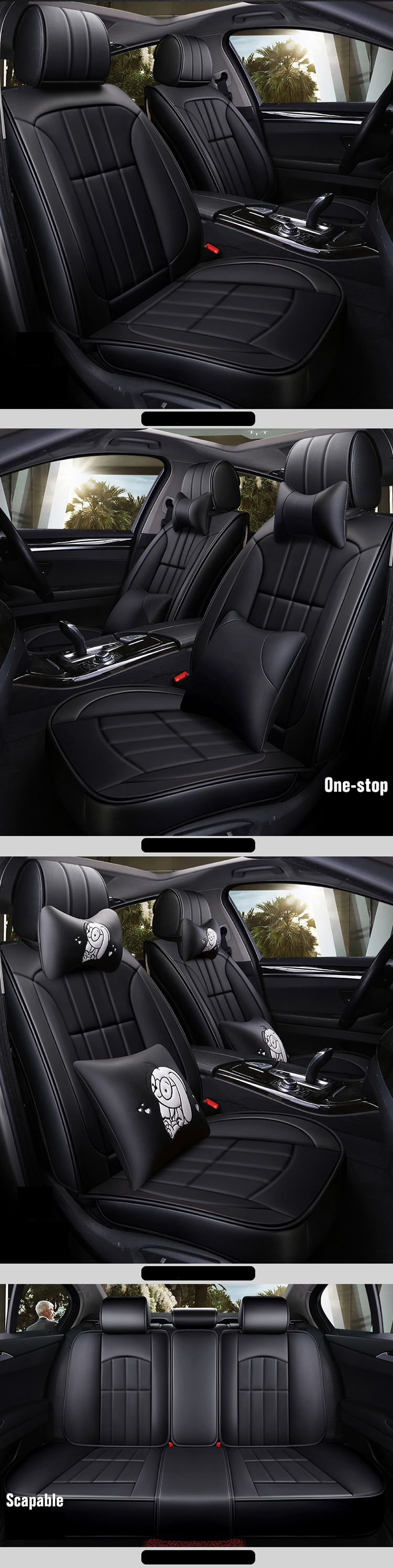 New environmental material car seat covers luxury / car seat covers for women