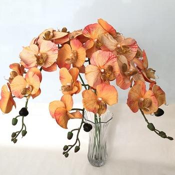 Fiori Gialli Gambo Lungo.Giallo Orchidea Fiori Artificiali Gambo Lungo Buy Fiori