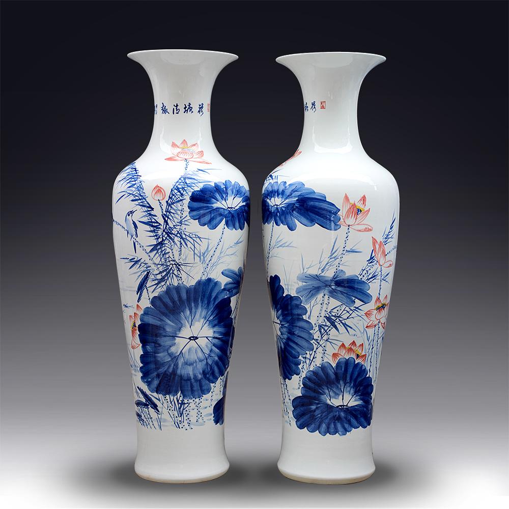 Chinese JingdezhenCeramics Quality Chinese Style Blue And