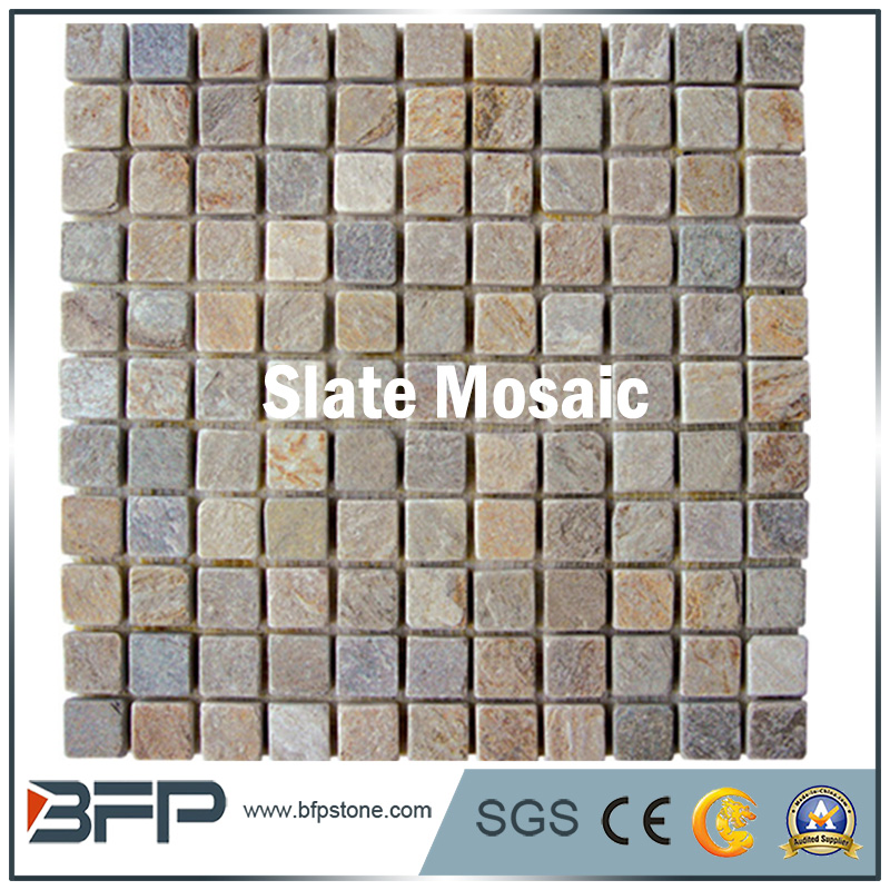 High Quality Rusty 30x30 Slate Mosaic Tile for florr and Wall Decoration