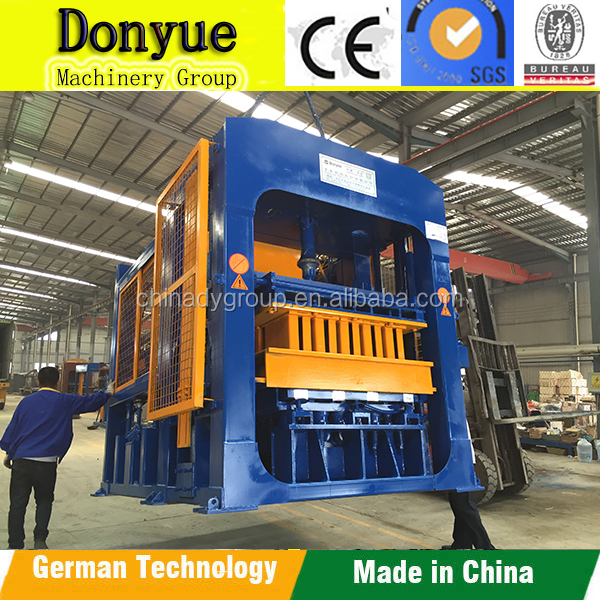 QT10-15 hydraulic and vibration cement concrete block moulding machine price for sale
