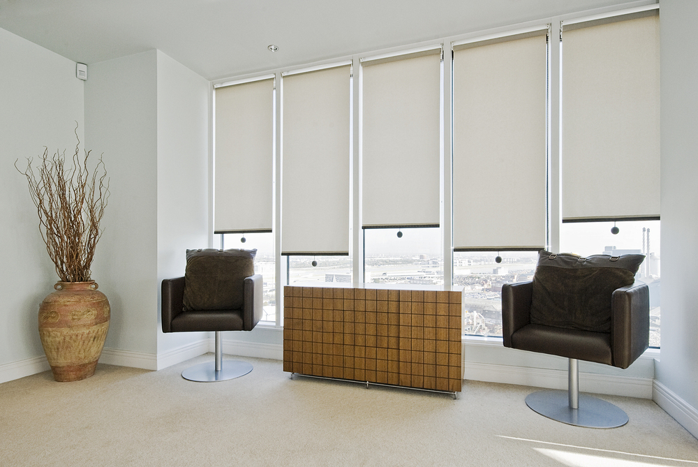 Home Decor Simple Style Windows Curtains Sunscreen Fabric Roller Blinds
