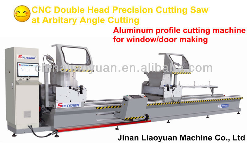 CNC Arbitary Angle Double-head Precision Cutting Saw / Aluminum Profile Cutting Machine / Windows and Doors Making Machine