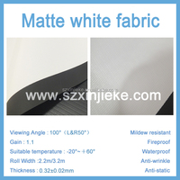 Best price of matte white projector screen material customized