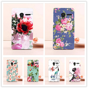 Phone Cases For Alcatel One touch Pixi 3 only for 3G Version 4027 4028 OT 4027X Case Hard Back Cover Skin Housing Phone Bags