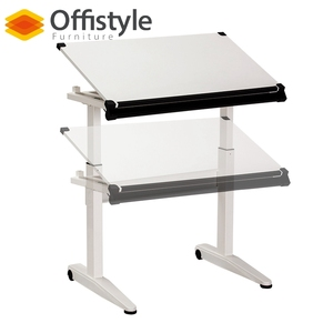 Customized colors wood engineering drawing table height adjustable drafting drawing table desk