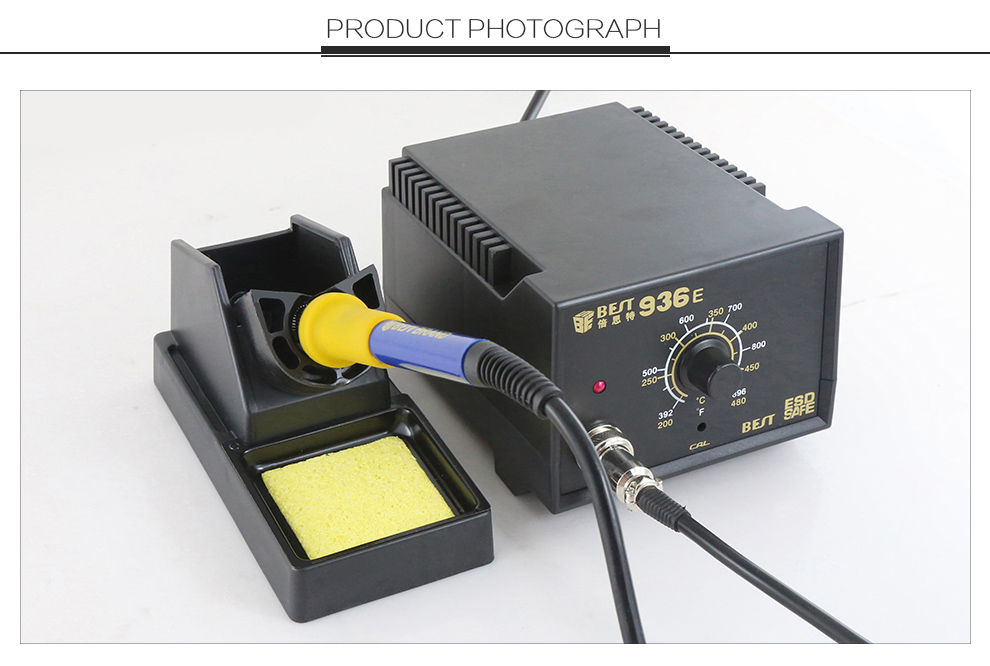 BEST-936E 110-240V/AC Factory Lead- free Anti-static Temperature Adjustable Hot Air Solder Iron Rework Station
