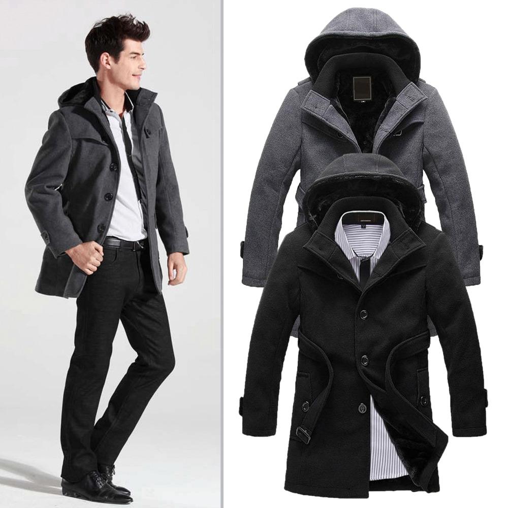 Overcoat with hood