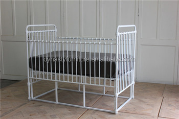 Home Loft Concept Furniture Bedroom White Iron Baby Crib