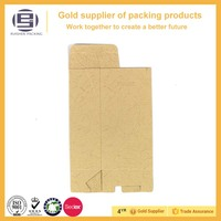 High quality folding brown kraft die cut paper bag with logo