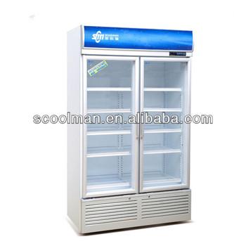 Soft Drink Fridge/Vertical Double Door Refrigerator