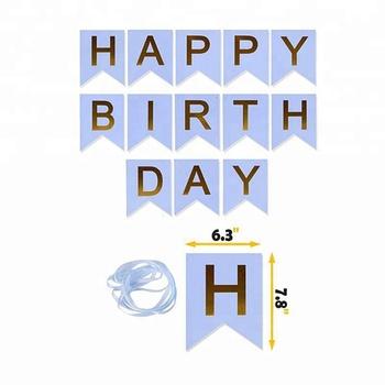 congratulation happy birthday letter word banner buy