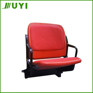 BLM-4352 Baroque PVC Pipe Making Machine Red Office Mouded Soccer Plastic Chairs Stadium Seats Outdoor Sports Seating