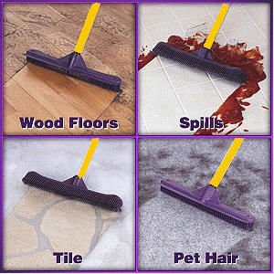 Sweep Rubber Broom Sweep, Scrub and Squeegee all in one!