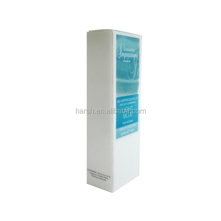 High quality eco friendly and transparent perfume box pvc packaging plastic