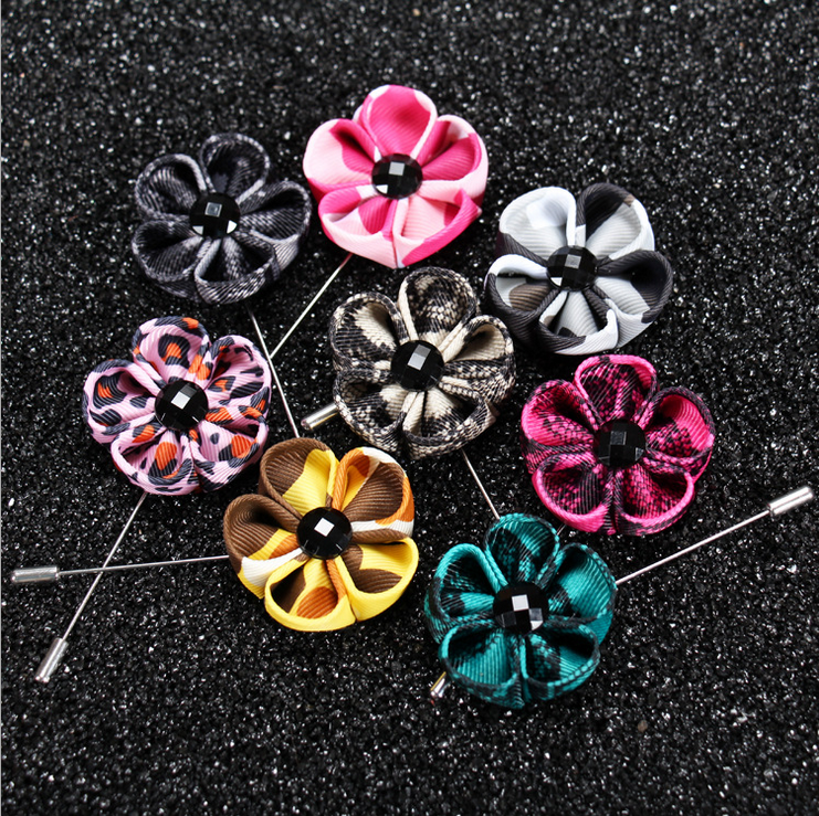Custom flower Lapel Pins Sticks for Men Boutonniere Pin for Suit