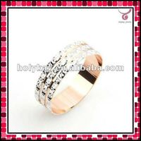 New style 3 row diamon ring,golden ring