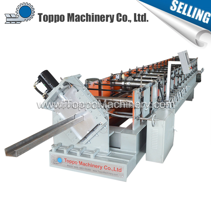 Professional construction automatic c purlin cold roll forming machine