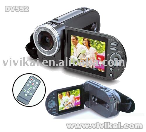 "digital video camera,video camera with 2.4""TFT LCD&Mp3&MPEG4&8X digital zoom&still photos/audio record&PC camera&remote control"