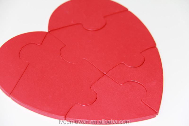 wooden block heart puzzle kids toy