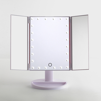 Makeup Mirrortrifold Vanity Mirror With Lightstouch Screen Usb