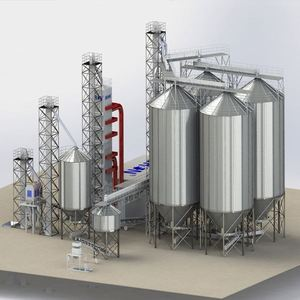 Bolted Steel Silo 100Tons/300Tons Grain Silo Tank Supplier
