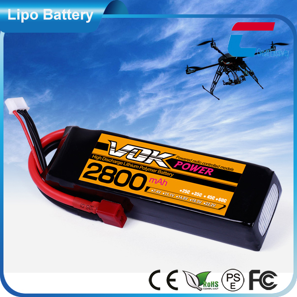Super Strong Power 6 Cell 3.7v 2800mah lithium polymer battery for remote control rc helicopter airplane car