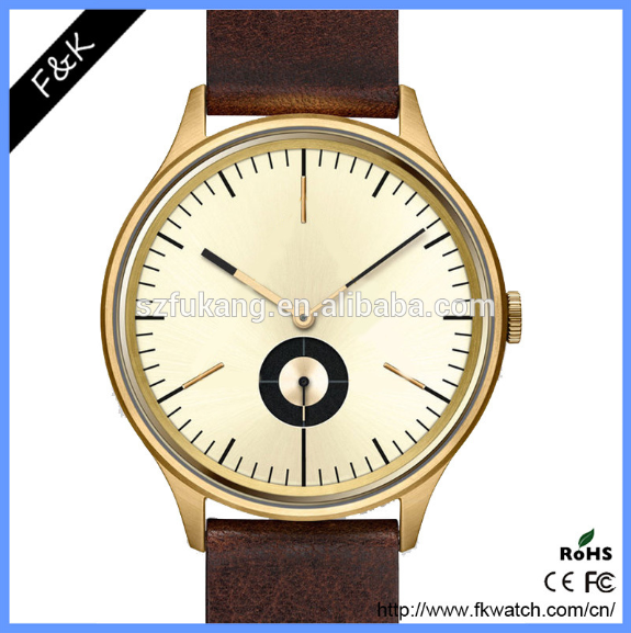 Luxury alloy case gold plated watch chronograph for men