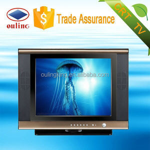 Ouling manufacturer cheapest crt tv 21 inch crt normal flat and ultra slim