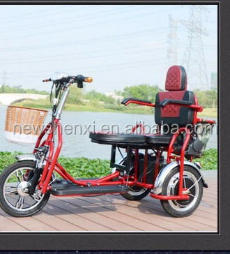 Hot Selling Folding Electric Tricycle For Handicapped Passenger Use For On Sale
