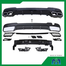 AUTO CAR BODY KIT REAR BUMPER DIFFUSER + <span class=keywords><strong>XẢ</strong></span> MẸO MUFFLER 2014-2015 CHO BENZ W212