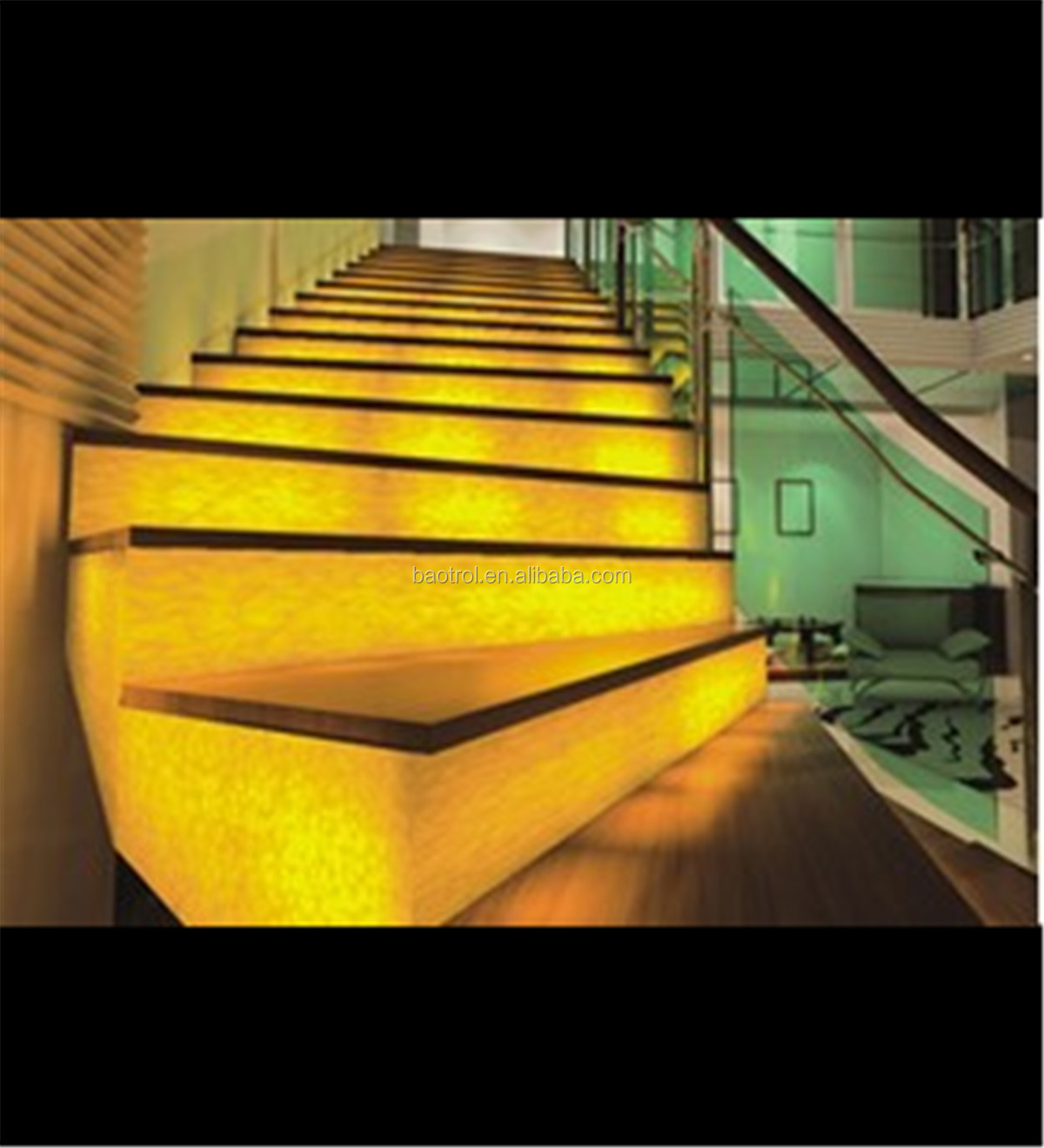 Hottest Sale Transparent Stairs Decor Resin Stone Panel - Buy Resin ...