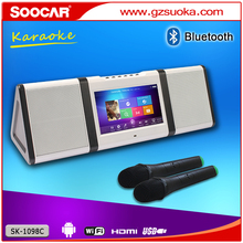 Android portátil mini hindi <span class=keywords><strong>mp3</strong></span> song download touchscreen wi-fi hdd máquina de karaokê jukebox bluetooth speaker
