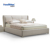 Electric Beige Leather Soft Bed
