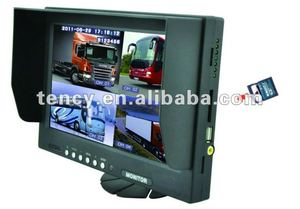 9 Inch Digital tft stand alone Quad Monitor with DVR (KF-T901SV-4-DVR) with Sunshade