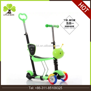 3in1 4in1 5in1 kids cartoon scooters with flashing wheels 2016 height adjustable kick scooter best-selling children foot scooter
