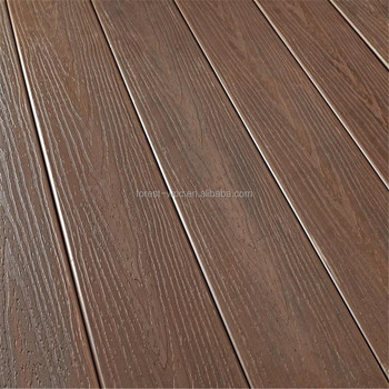 Deep Embossed Wood Grain Texture Composite Decking Pvc