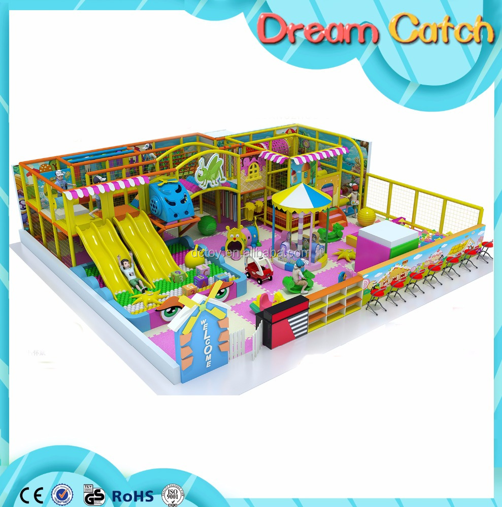 Triple Colors Matched Hot Sles Kids Small Indoor Playground for Center