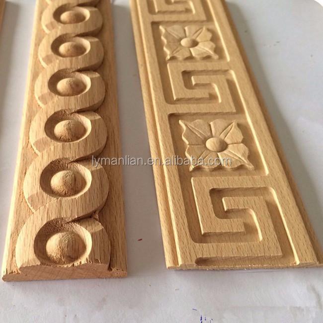Cnc talla de madera decorativa molduras de corona molduras - Molduras de madera ...