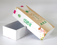 Custom paper and special design rigid lid and base gift box for cosmetic