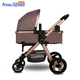 China factory pouch baby pram stroller/Chiristmas gift hi-ten steel baby buggy 2 in 1/cheap universal wheels baby prams luxury