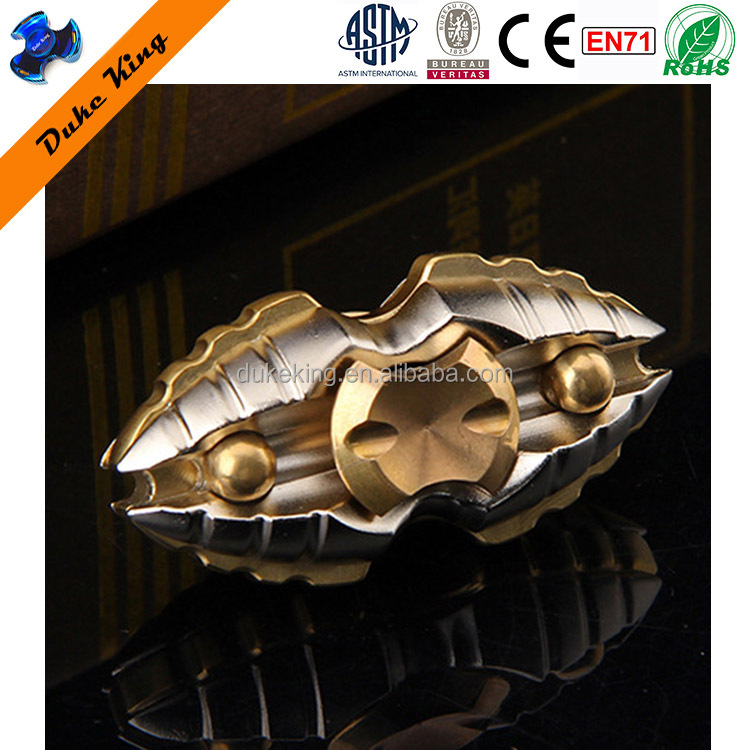 Copper Fidget Spinner Egyptian Scarab -DK207 Hand Finger Spinner Toys Copper Brass Gold Alloy Titanium Stainless Spinners